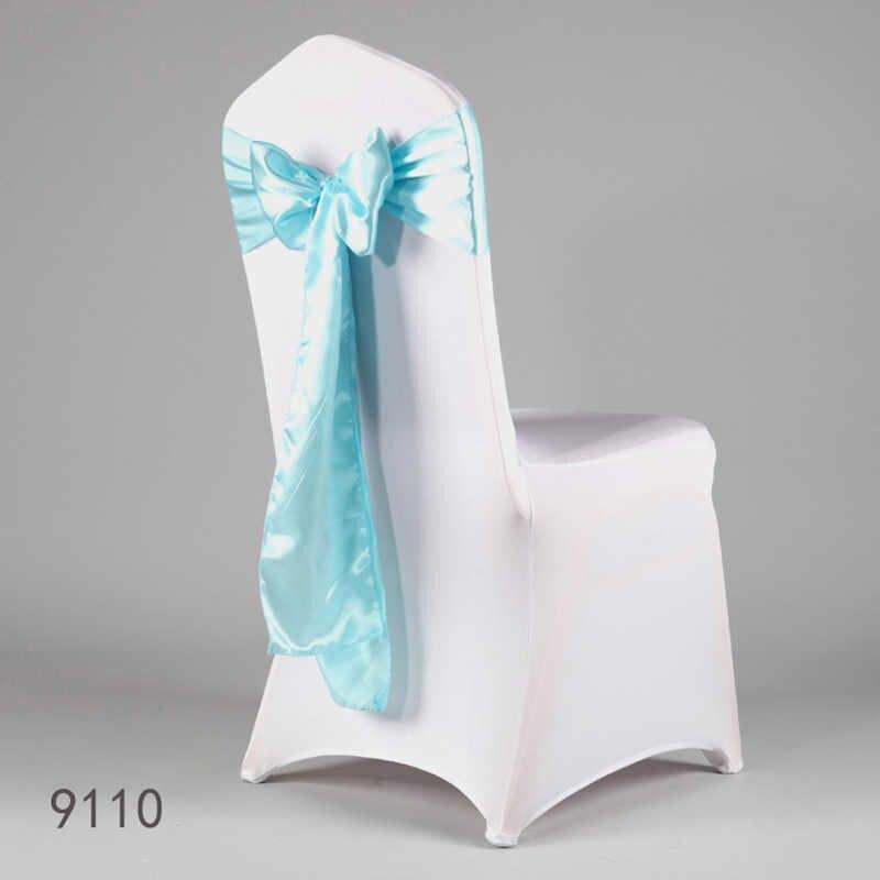50pcs Sedia del Raso Bowknot Del Telaio Del Nastro Arco Bande Sedia Raso di Fiocchi E Fasce Cintura Nodo Cravatte per la Cerimonia Nuziale Del Partito Metting Decorazione hot NEW