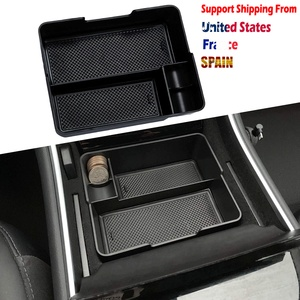 Image 2 - For Tesla Model 3 2017 2018 2019 Center Console Organizer Insert ABS Black Materials Tray Car Storage Auto Accessories Stuff
