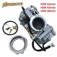Carburador da motocicleta hsr42 hsr45 hsr48 mikuni 4t desempenho bomba de acelerador pumper carburador carb para harley tm42 tm45 tm48
