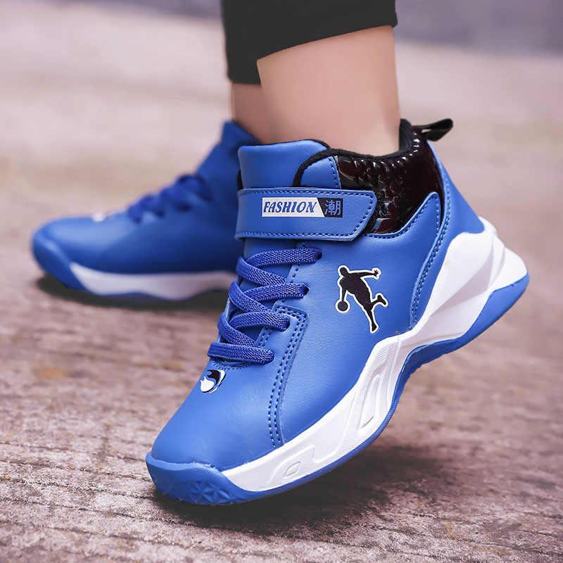 aumento Sedante condón  Nuevos zapatos de baloncesto para niños de suela gruesa de alta ...
