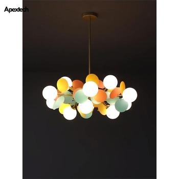 Modern Chandelier Multicolored Flower Branch For Living Dining Room Chandeliers Ceiling Hanging Lights Bedroom Lighting Fixtures modern black chandelier lighting for living room bedroom wedding decoration chandeliers lamp hanging suspension modern lighting