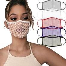 1pc Malha Máscara de Pano Lavável Protetor Segurança Face Da Tampa À Prova de Poeira Ao Ar Livre Boca Boca Caps Cubre Reutilizable маска