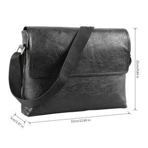 Image 2 - Fashion Mens Handbag Male PU Leather Messenger Bags for Man Casual Business Vintage Crossbody Bag