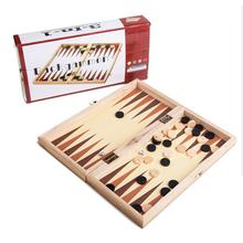 Outdoor Fun & Sports Chess Backgammon Folding Wooden Chess Game Figures Dice Game toys for children other hot sale children family outdoor fun sports toys hook