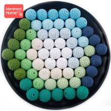 Mamihome 200pc 16mm Wooden Crochet Beads Baby Teether Knitting Beads Wooden Blank Children'S Goods Crib Sensory Toy Diy Necklace стоимость