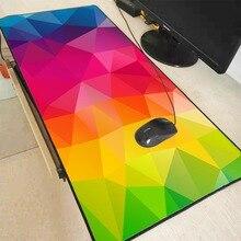 MRGBEST треугольников геометрия цвета игровой коврик для мыши блокировки края большой резиновый нескользящий коврик для Dota 2 ЛОЛ суть игры игрок колодки л