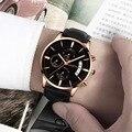 2019 relogio masculino часы мужские модные спортивные из нержавеющей стали кожаный ремешок часы кварцевые наручные часы для деловых людей reloj hombre