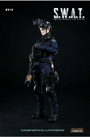 Mini Times Toys MT-M016 US Female Police S.W.A.T Officer CIA M014 1/6 Figure
