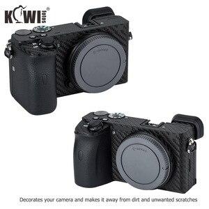 Image 2 - KIWIFOTOS anti rayures caméra corps couverture en Fiber de carbone Film Kit peau pour Sony A6600 3M autocollant avec Film de rechange caméras Protection