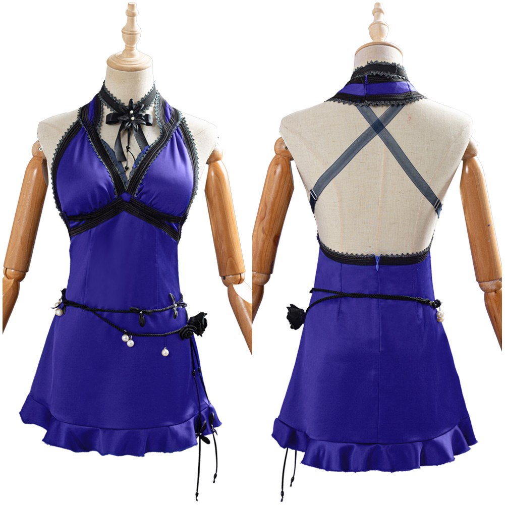 Final fantasy vii remake tifa lockhart cosplay traje adulto vestido feminino terno traje de carnaval de halloween