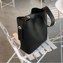 Modne torebki damskie ze skóry Pu o dużej pojemności projektant torebki damskie na co dzień torebki damskie nowe torebki damskie designerska torba na ramię tanie tanio HANZHUO Wiadro Torby na ramię Na ramię i torebki CN (pochodzenie) Moda Wszechstronny WOMEN Pojedyncze Futro Solid color