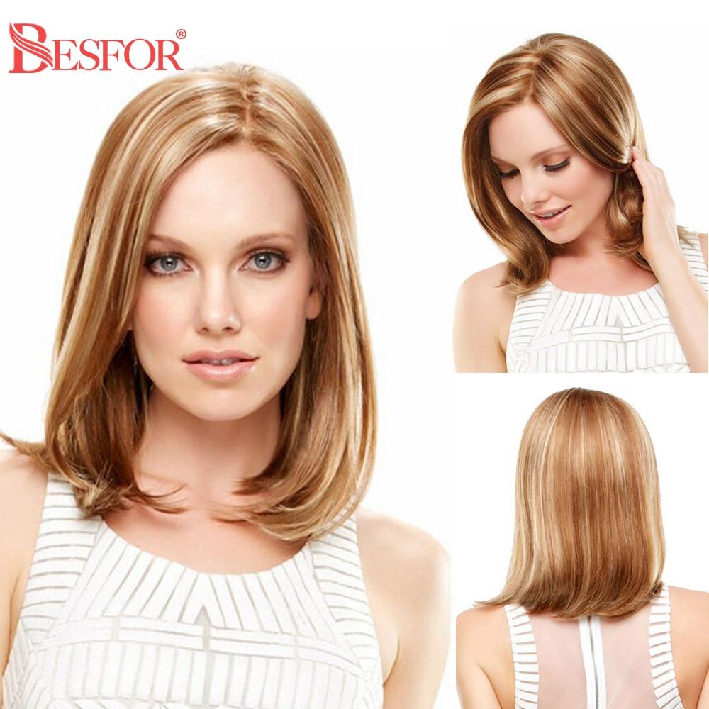 Bob Wigs Closure Short Human-Hair U-Part Lace-Front Ombre Black-Women Cheap 180%Density