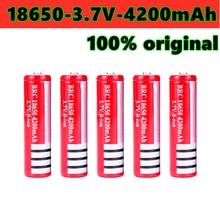 2021 neue 18650 akku 4200 MAH Li ionen batterie 3,7 V, geeignet für kugelschreiber, laser, taschenlampe, etc