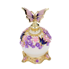 perfume-bottle, retro-premium flavor-bottle, glass- bottle, creative decoration of Small capacity 25ml butterfly,