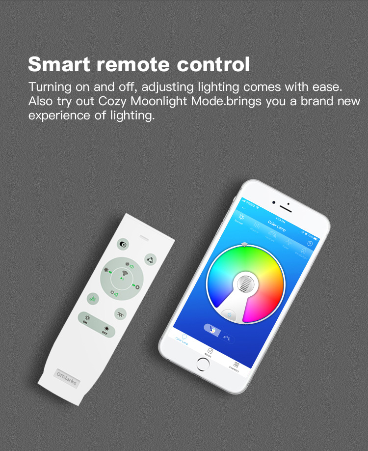 Hfd569d2d9d7a409a81dd79a88debea561 Smart led ceiling Light RGB Dimmable 25W 36W 52W APP control Bluetooth & Music modern Led ceiling lamp living room/bedroom 220v