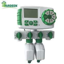 Sistema Automático de riego con temporizador de jardín de 4 zonas con 2 válvulas de solenoide