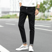 Autumn Men Jeans  Slim Fit Denim Casual slim Straight Jeans Cotton Solid vintage mens clothing Fashion Pants Classic Cowboys