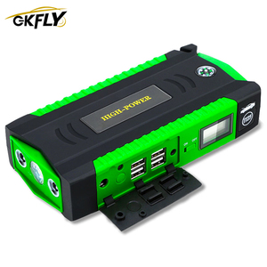 GKFLY Portable Jump Starter 12V Charger For Car Battery 16000mAh Booster Petrol Diesel Starting Device Cables Power bank