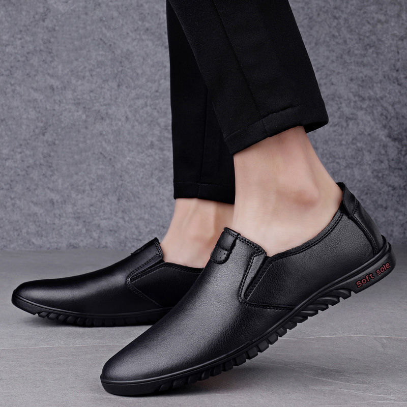 Luxury Business Loafers Men Leather Shoes Breathable Rubber Sole Dress Shoes Male Office Wedding Flats Footwear