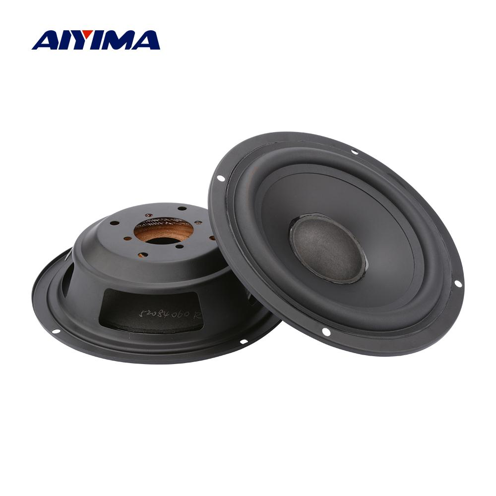 AIYIMA 2Pcs Bass Speaker Passive Radiator Woofer Diaphragm Radiator Rubber Edge 3 4 6.5 8 Inch Vibration Membrane Repair Part