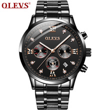 OLEVS Top Brand Luxury Watch Men Quartz Montre Homme Life Waterproof Male Watches Sport Business Clock Wristwatch Reloj Hombre creative brand men watch steel luxury quartz business wristwatch waterproof clock military sport male watches relogio montre
