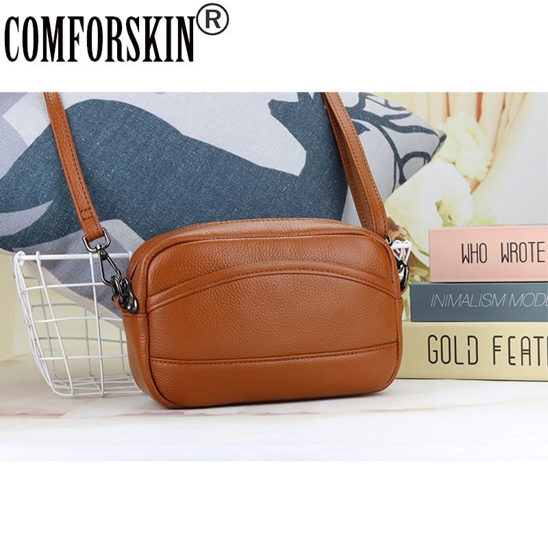 COMFORSKIN Women Messenger Bag 2020 Dropshipping сумка кожаная женская Premium Genuine Leather women bag on the shoulder Bag