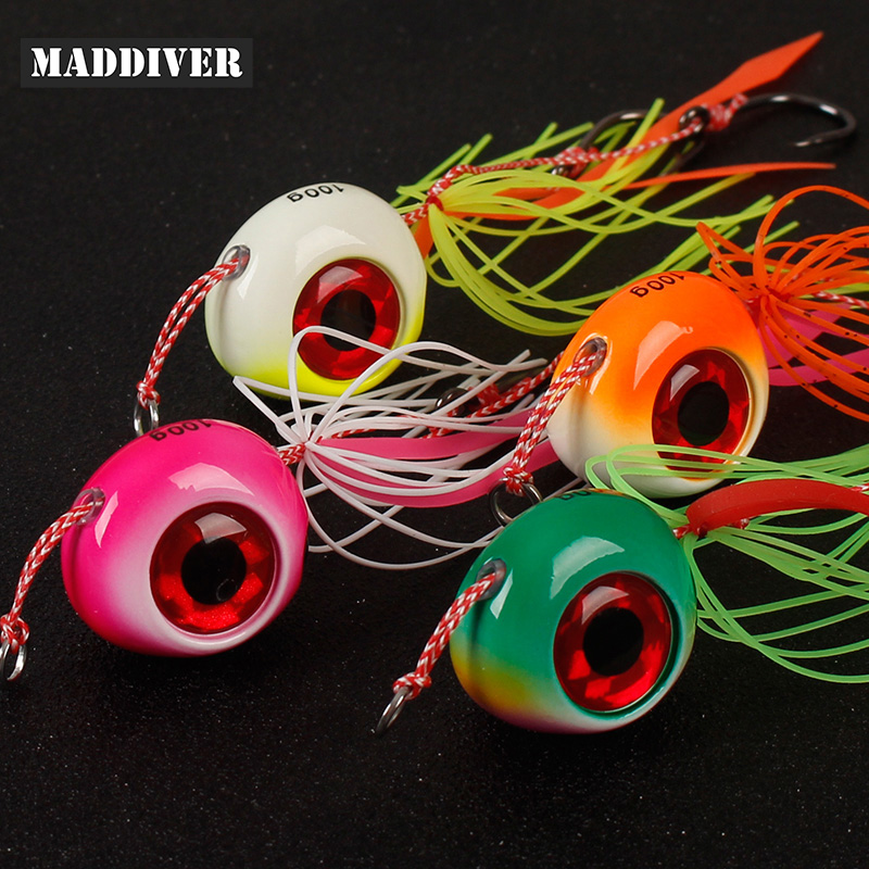 4pcs 60g 100g150g 200g Tai Kabura Slider Jig Sinker Lead Jigging Lures Saltwater Tai Rubbers Red Snapper Sea Fishing Baits Boat
