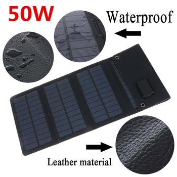 50W Solar Panel 5V USB with Car Charger + 10/20/30/50A USB Solar Cell Charger for Car RV Battery Camping Mobile Power Bank 2