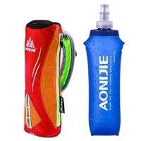 Беговая ручная бутылка для воды, держатель для чайника, сумка для хранения на запястье, гидратационный пакет, мягкая фляга для воды, марафон...