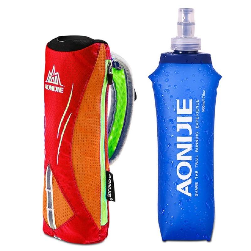 Running Hand-held Water Bottle Kettle Holder Wrist Storage Bag Hydration Pack Hydra Fuel Soft Flask Marathon Race