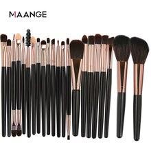 22 pçs/set pincéis de maquiagem kit pó sombra de olho fundação blush mistura beleza sombra de olho feminino lábio cosméticos compõem escova