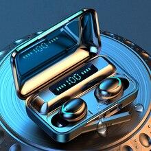Bluetooth אוזניות 5.0 TWS F9 5 אמיתי אלחוטי 8D אוזניות אוזניות באוזן עם מיקרופון HIFI IOS אנדרואיד IPX7 דיגיטלי אוזניות