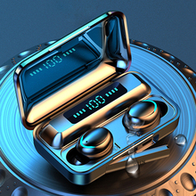 Bluetoothイヤホン5.0 tws F9 5真のワイヤレス8Dイヤフォンヘッドセットで耳マイクhifi iosアンドロイドIPX7デジタルイヤホン