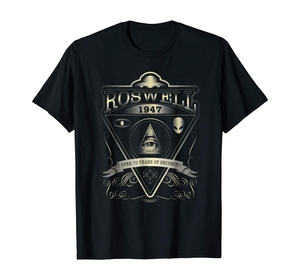 Roswell 1947 Alien T Shirt - Vintage Style UFO Area 51(China)