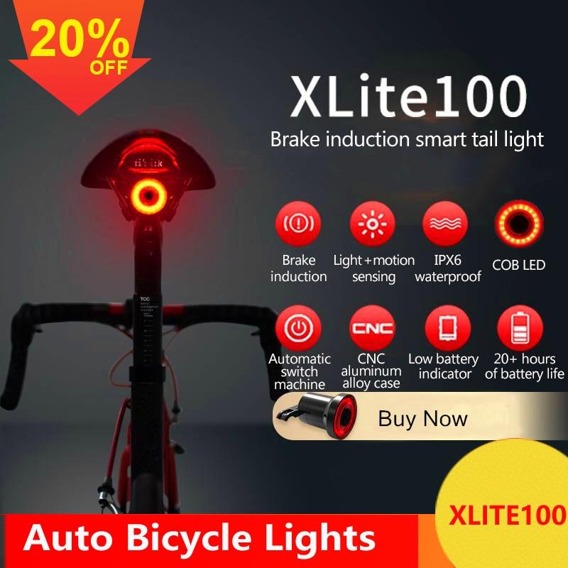 Bicycle Smart Auto Brake Sensing Light IPx6 Waterproof LED Charging Taillight