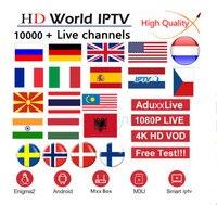 World IPTV Subscription France UK German Arabic Dutch Sweden French Spain Portugal Latino EX YU Smart M3U 10000 Live Android