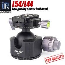 INNOREL L54/L44 ترايبود رئيس لكاميرات SLR الرقمية الثقيلة مع سبائك الألومنيوم بانوراما منخفضة الجاذبية مركز كرة ثلاثية الرأس