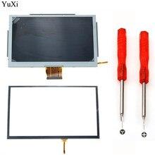 Akcesoria do gier wymiennych YuXi ekran dotykowy Digitizer z narzędziami szklany ekran LCD pasuje do części naprawczych Nintendo Wii U Gamepad