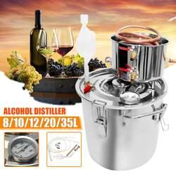 8/10/12/20/35L Effiziente Distiller Moonshine Alkohol Edelstahl Kupfer DIY Home Wasser Wein Ätherisches öl Brauen Kit
