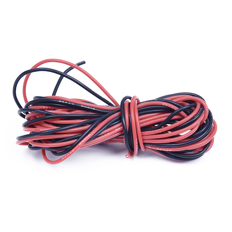 Newest 2x 26 Gauge <font><b>AWG</b></font> Silicone Rubber <font><b>Wire</b></font> Cable Red Black Flexible image