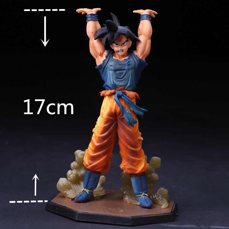 NOVA 17 centímetros Dragon Ball Z Goku Figura Coleção Modelo de Brinquedo Super Saiyan Goku Ação Boneca Presente para As Crianças figura Brinquedos