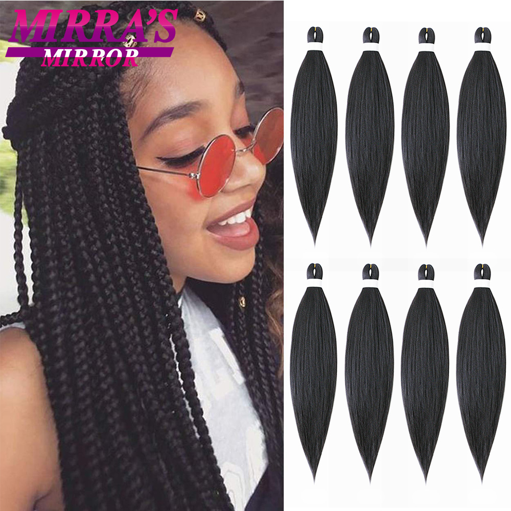 Зеркальные легко растягивающиеся плетеные волосы Mirra's, АФРО Синтетические Джамбо удлинители кос для кос, доступны несколько размеров