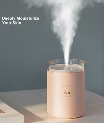 Ultrasonic USB Essential Oil Diffuser Air Humidifier Candle Romantic Soft Light Car Purifier Aroma Anion Mist Maker Dropshipping