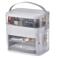 Multifunctional Cosmetic Jewelry Storage Bins Transparent Makeup Organizer Acrylic Jewelry Box Drawer Desktop Organizer