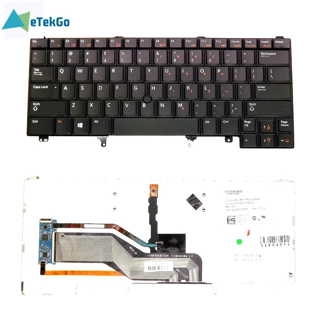 E6320 E6330 E6420 E6430 E6440 <font><b>E5420</b></font> E5430 <font><b>Keyboard</b></font> Backlit For <font><b>Dell</b></font> <font><b>Latitude</b></font> image