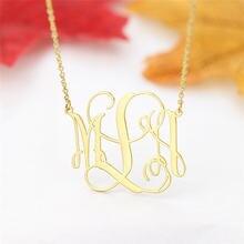 Индивидуальные Начальная буква ожерелье для женщин из нержавеющей
