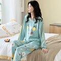 Осенне-зимние пижамы для детей из хлопка с героями мультфильмов пижамный комплект для женщин Пижама домашняя одежда для сна с длинными рука...