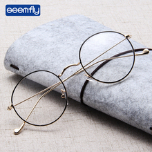 Seemfly Unisex Retro Round Presbyopic Reading Glasses Metal Frame Personality Eyeglass Portable Gift Magnification