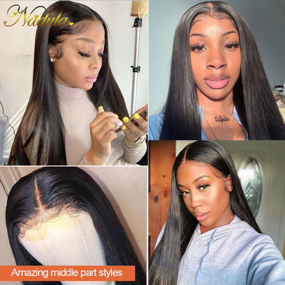 Nadula  Wigs 12-24inch Straight Lace Part Wig  Lace Wigs  Pre Plucked With Baby Hair 5