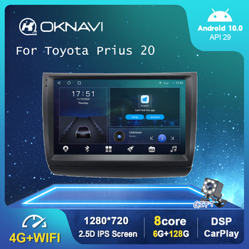 9 6G 128G Android 10.0 Car Multimedia Radio Player For Toyota Prius 20 2002-2009 GPS Stereo DSP Carplay WIFI Auto No 2 din DVD 9 inch android 9 0 car navigation gps for toyota land cruiser prado150 2009 2013 multimedia player wifi dsp radio 2 din player